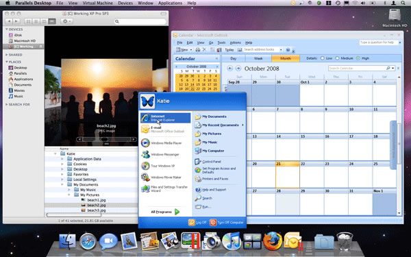 How to create photo slideshow with photo dvd maker on mac with parallels you are able to use your windows programs and mac apps side screenshot of windows running on mac computer ccuart Choice Image
