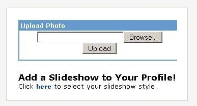 Upload Photo Slide Show to MySpace